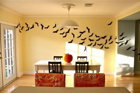 halloween decor, black and white halloween