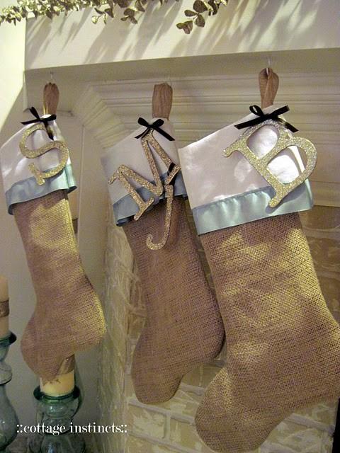 DIY christmas decor, DIY stockings, Christmas stockings