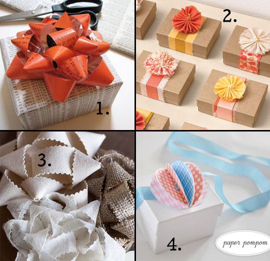 homemade gift bows, diy gift bows, gift bow tutorial