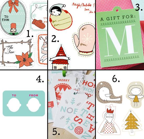 printable gift tags, Christmas gift tags