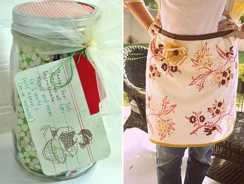 diy gifts, diy gifts friends, diy dishtowel apron
