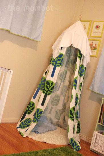 diy tent, homemade indoor tent, diy hanging tent