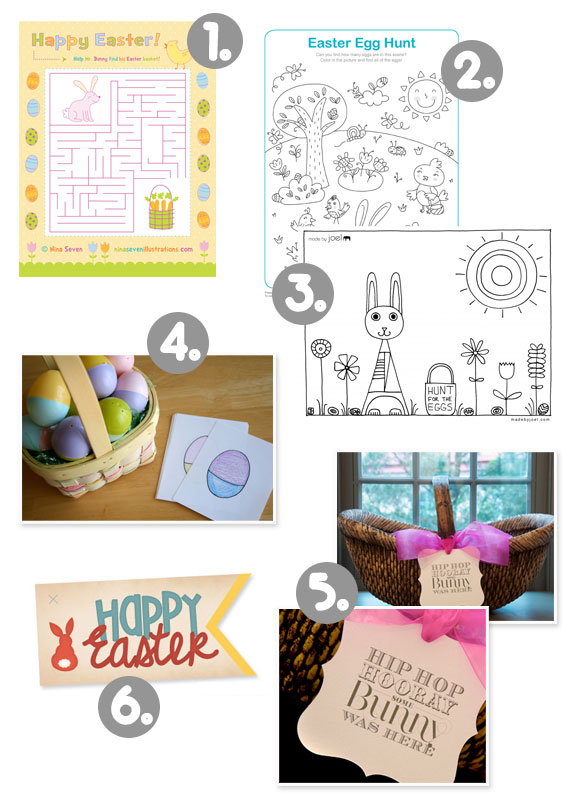 easter, easter printables, free easter printables, easter goodies