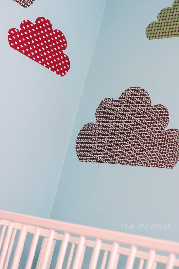 clouds, wall clouds, starched fabric wall decals