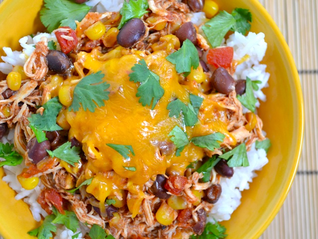 chicken taco rice bowl recipe, chicken rice bowl recipe