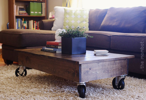 DIY factory coffee table cart | TheMombot.com