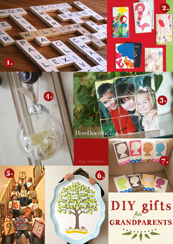 DIY gifts for grandparents 2012 | TheMombot.com