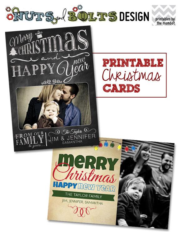 Printable Christmas Cards | TheMombot.com