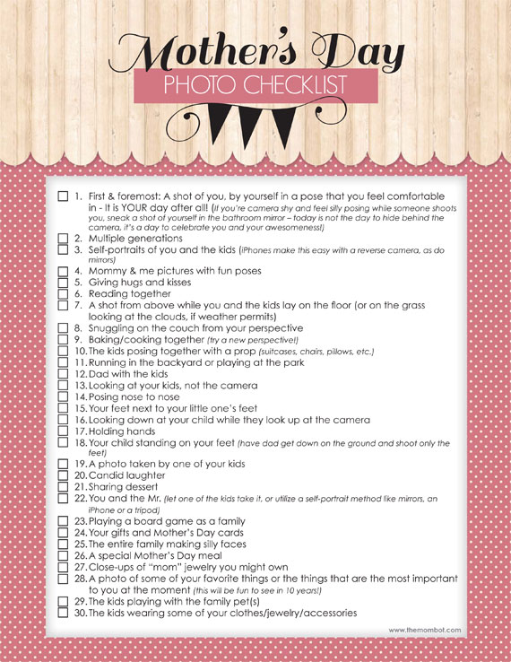 mothers day checklist on clipboard - Weigh to Maintain