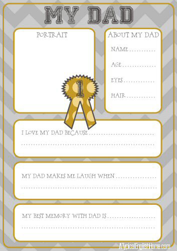 free printable father's day questionnaires | TheMombot.com