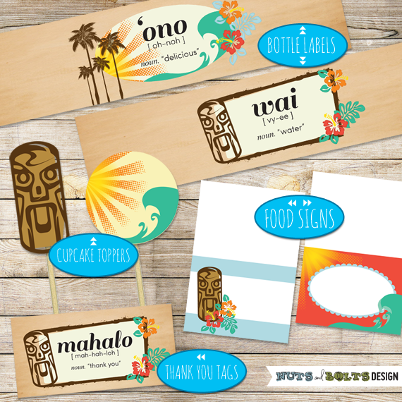 Summer luau party printables | TheMombot.com