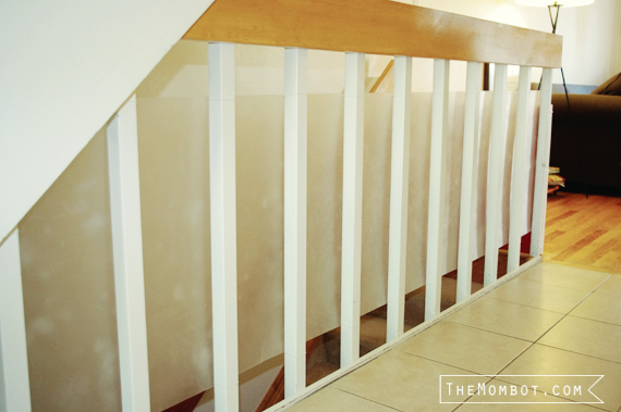 Babyproofing The Stair Railings With Plexiglass The Mombot