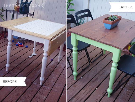 refurbished kitchen table gray diyrefurbished kitchen table for the patio the mombot