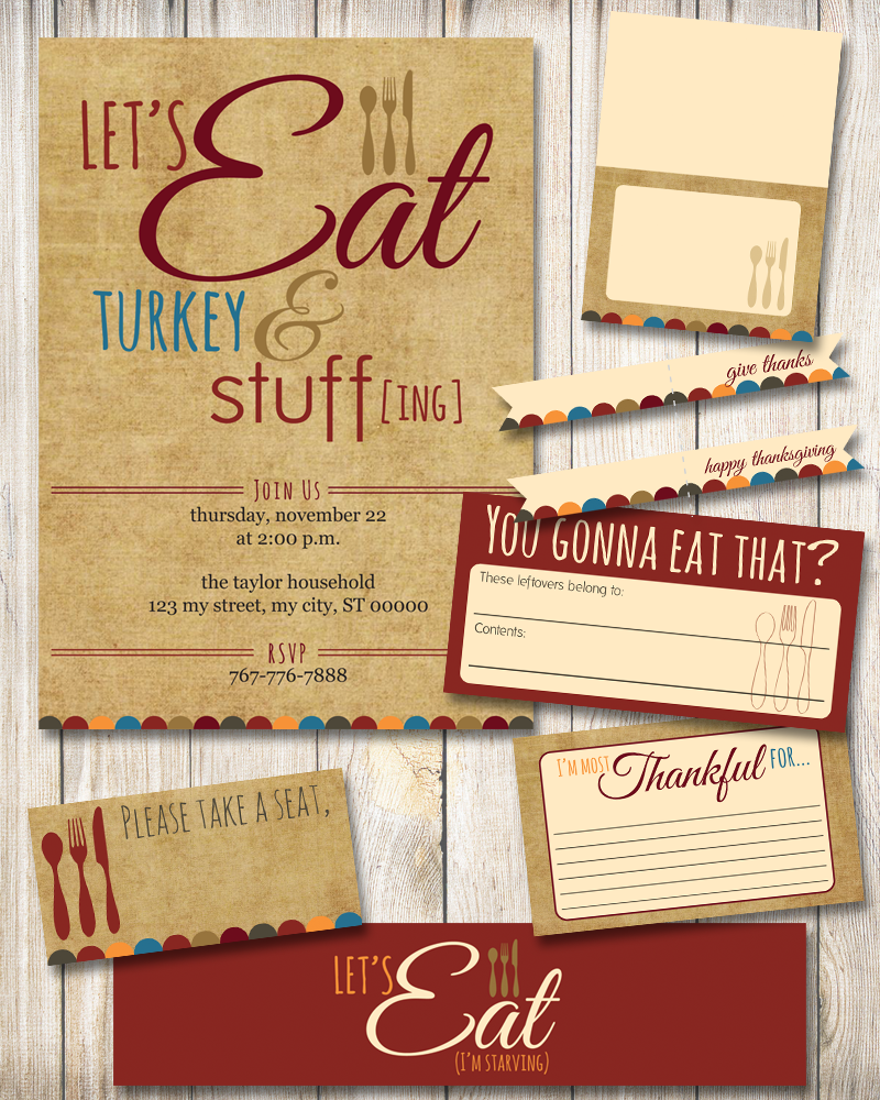 Thanksgiving printable package | TheMombot.com