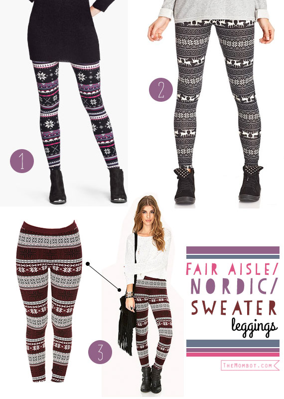 Nordic sweater leggings for fall: Fall fashion trends | TheMombot.com