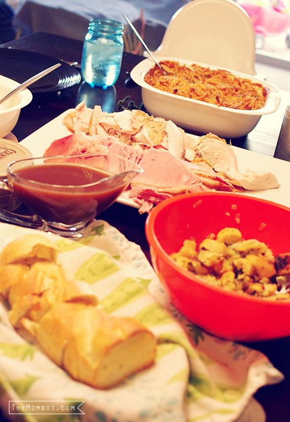 Thanksgiving dinner | TheMombot.com