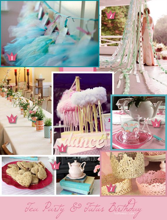 tea party & tutus birthday inspiration | TheMombot.com