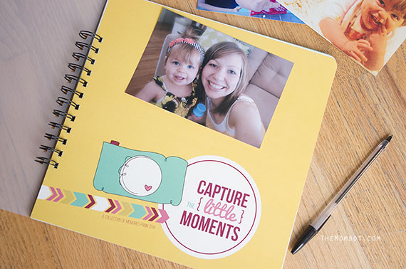 Capture the Little Moments Scrapbook & Journal | TheMombot.com