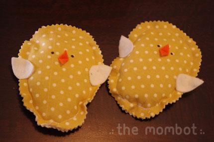 chick beanbags tutorial, spring crafts, martha stewart crafts