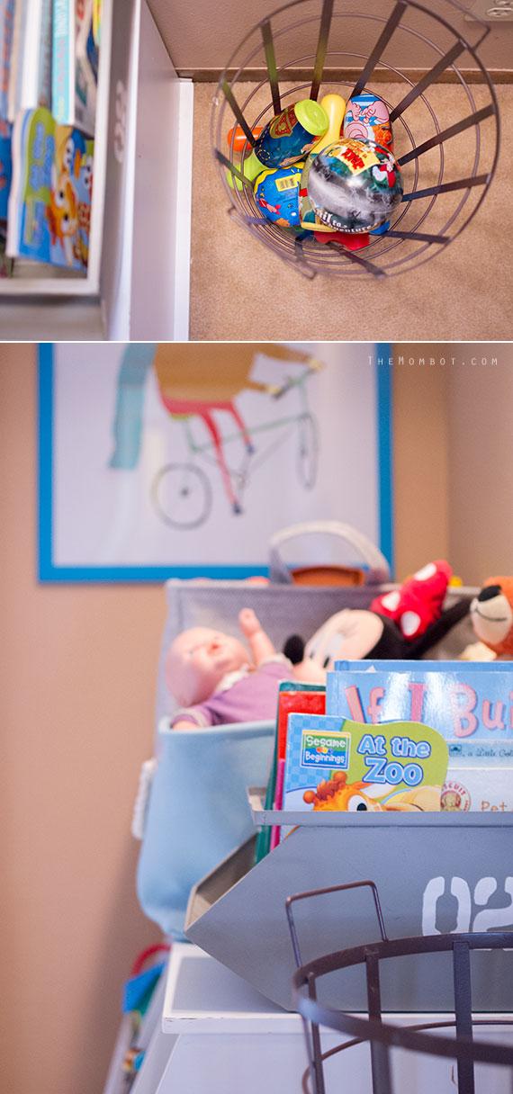Teeny, tiny playroom reveal, playroom ideas | TheMombot.com