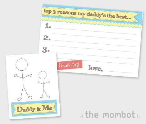 father's day card crafts for kids, father's day free card printables