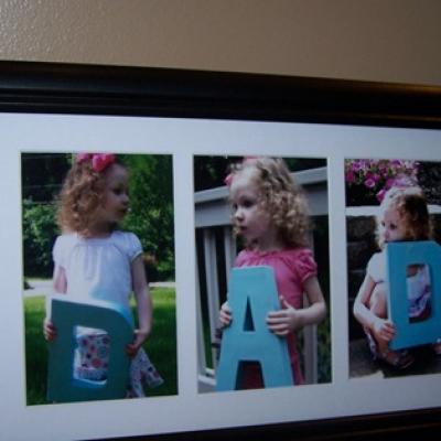 dad photo gift idea, diy father's day gift